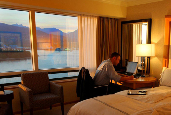Working at Sunset Harbourview Guestroom