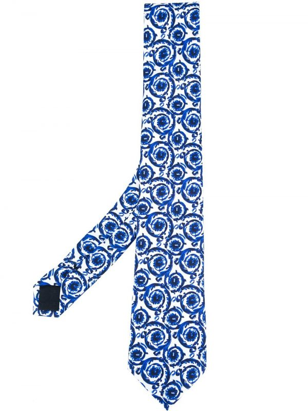 VERSACE painted Baroque tie