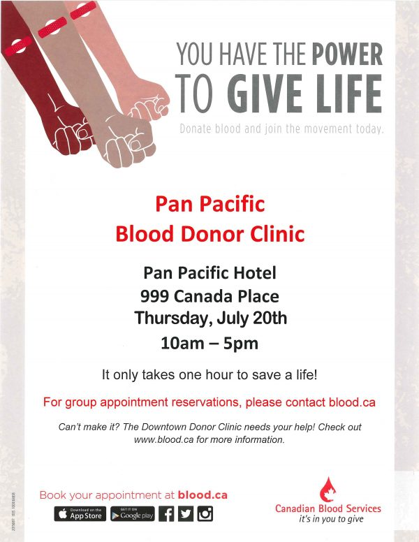 Blood Donor Clinic 2017 Letter Sized