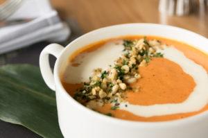 kabocha, squash soup, oceans 999, vancouver, dine out vancouver