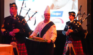 piping in of the haggis, haggis, robbie burns day, bagpipes